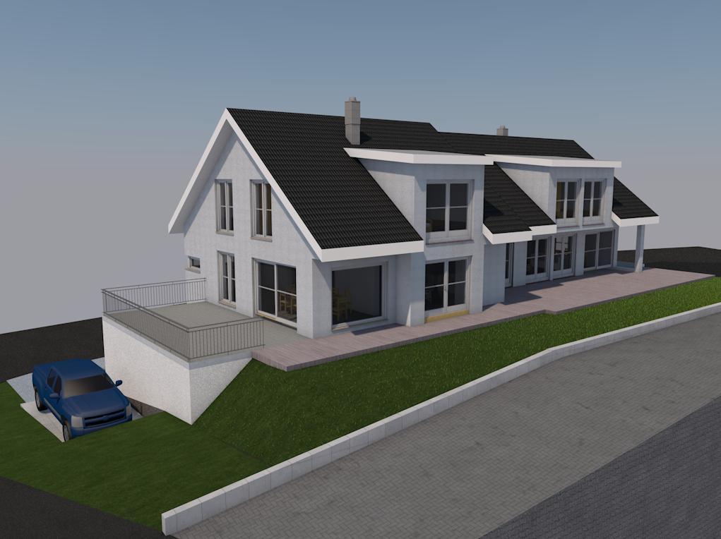 Planung Doppelhaus